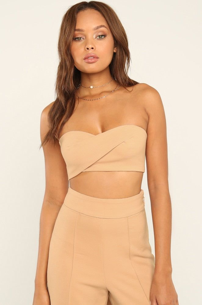 Back Together Top - Nude