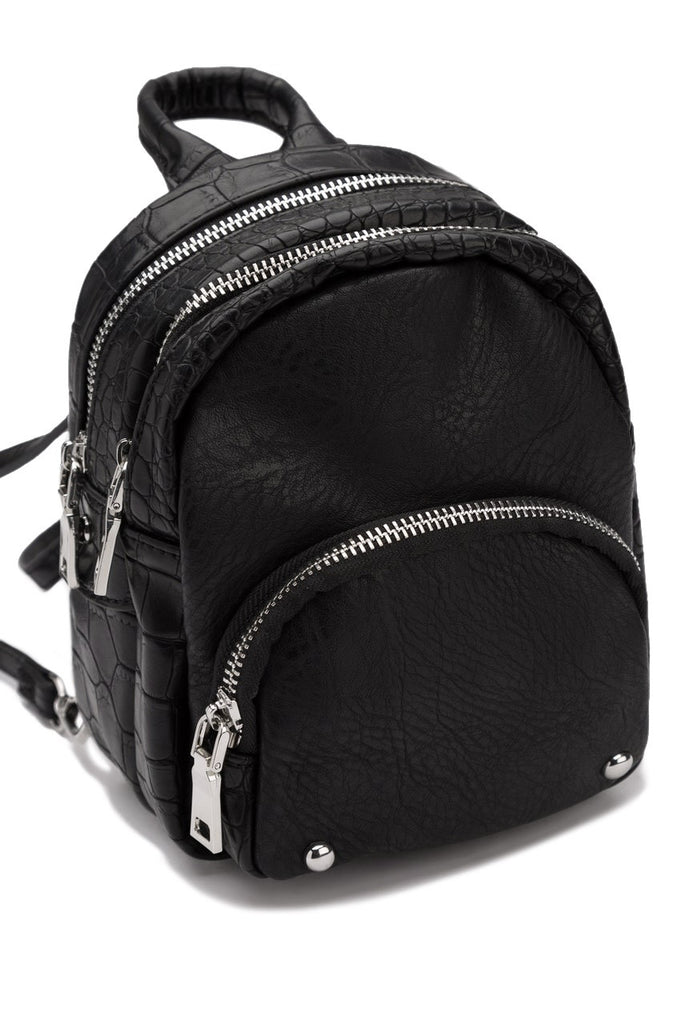 Modern Luxe Mini Backpack - Black
