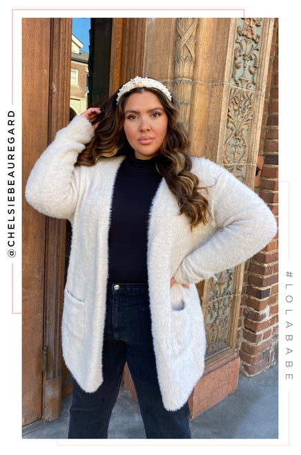 Shanelle Cardigan - Nude