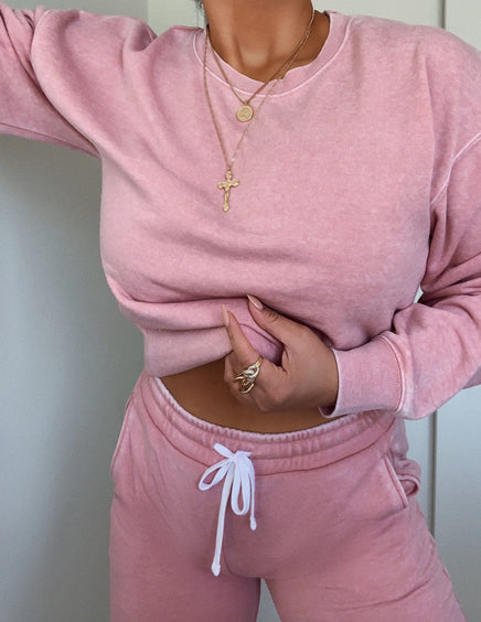 Chill Out Crewneck - Pink