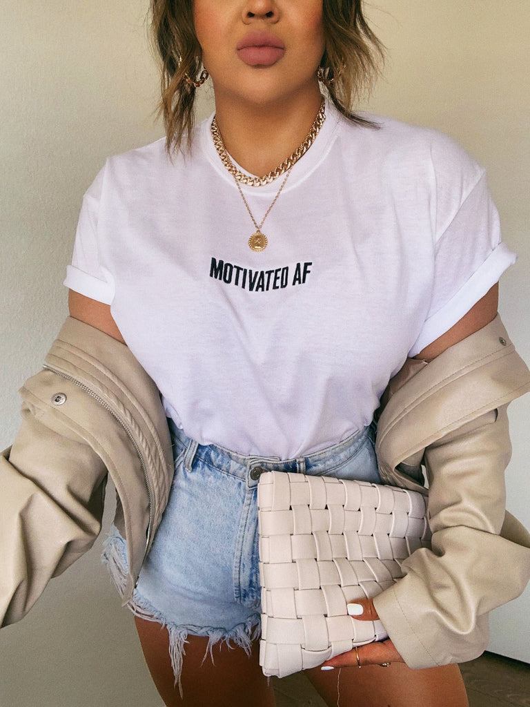 Motivated AF Tee - White
