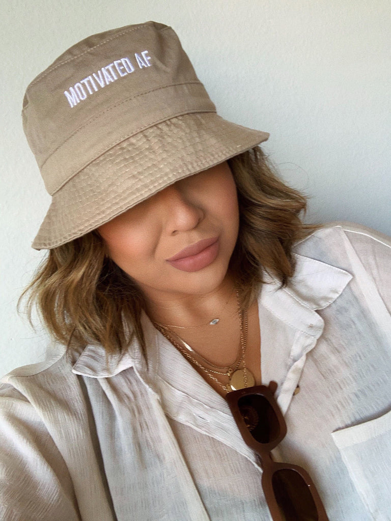 Motivated AF Bucket Hat - Nude