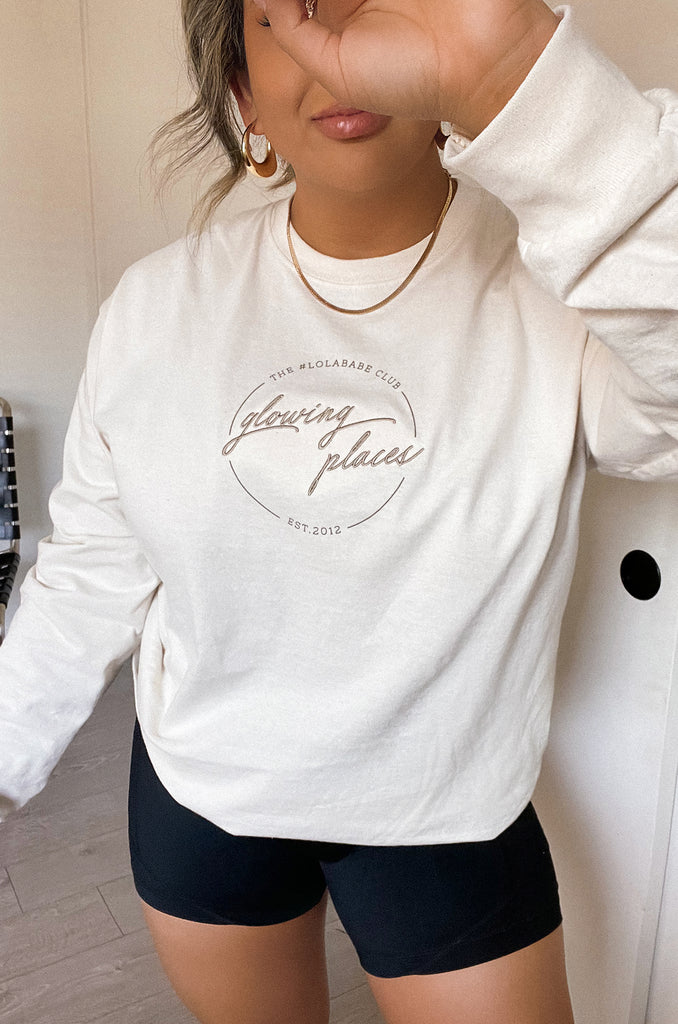 Glowing Places Long sleeve - Nude