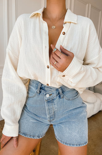 Weekend Chill Top - Cream