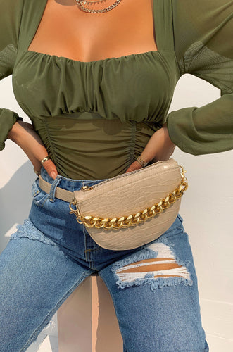 Extra Luxe Belt Bag - Nude