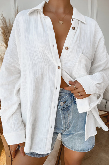 Weekend Chill Top - White