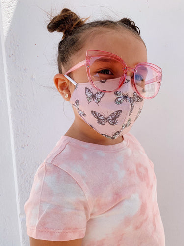Social Butterfly Kids Face Mask - Nude