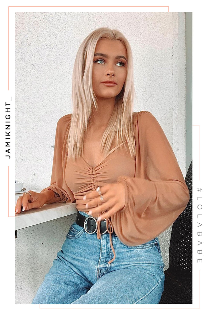 Lover Of Mine Top - Nude