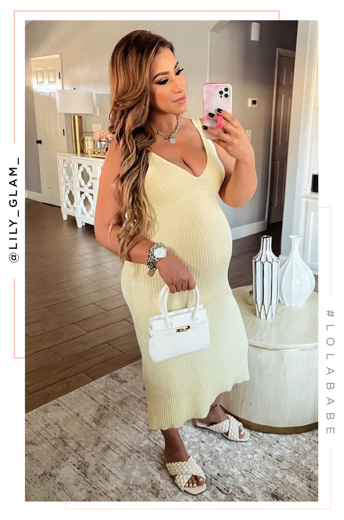 Spring Sunsets Dress - Yellow