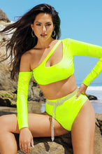 Get The Scoop Bikini Set - Neon Yellow