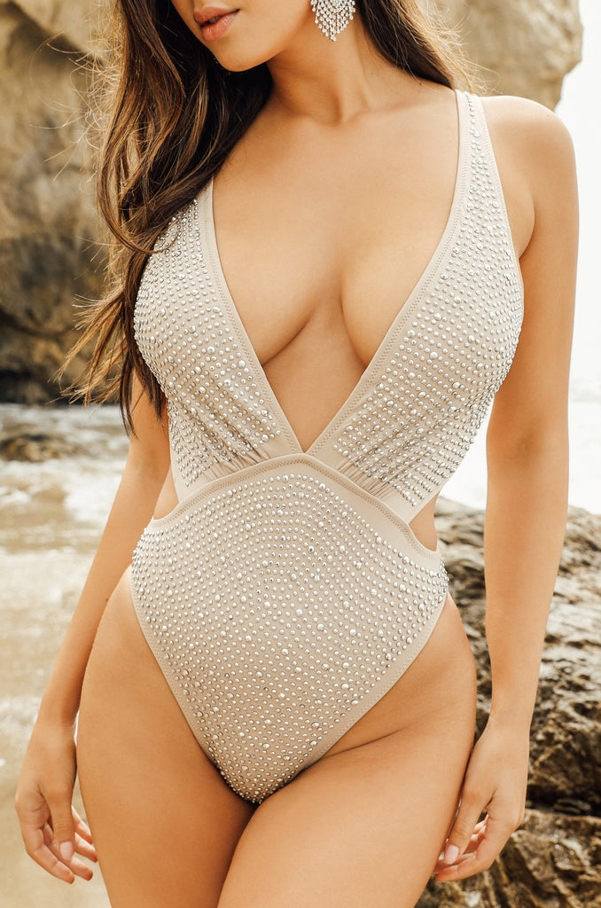 Woke Up Like This Swimsuit - Nude