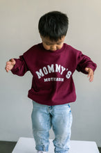 Mommy's Motivation Varsity Crewneck - Burgundy