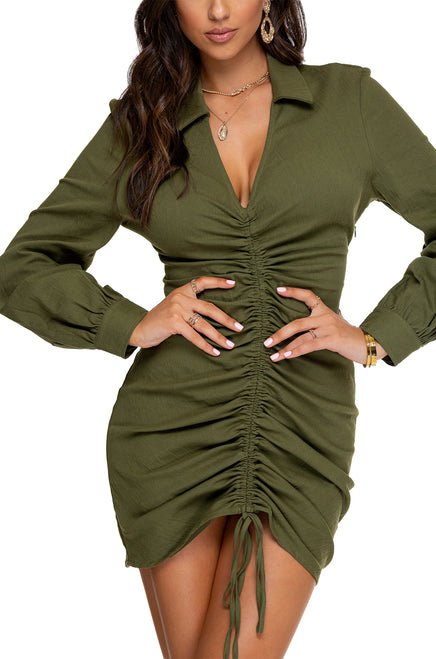 Ex Lovers Dress - Olive