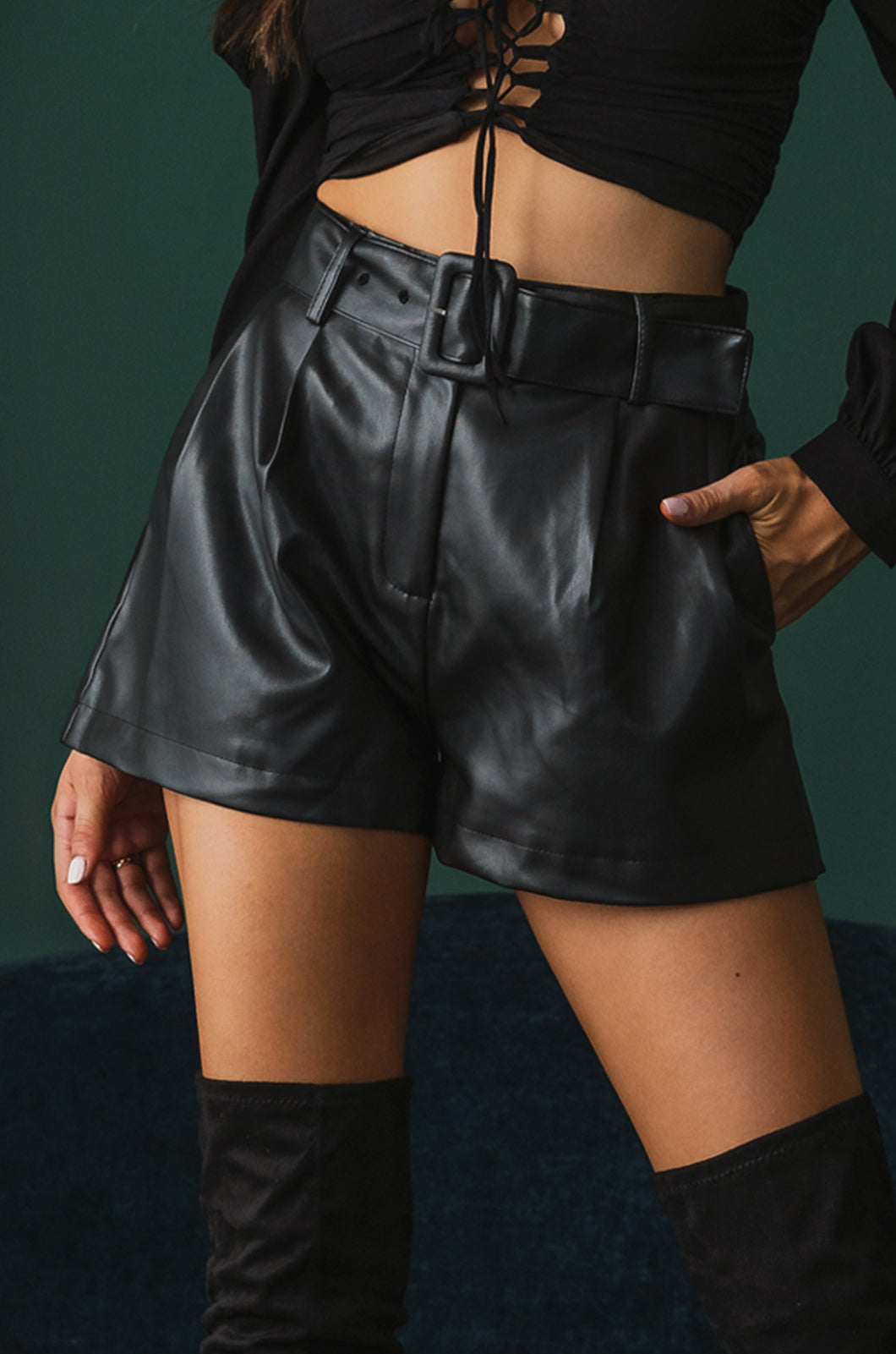 Streets Of Paris Shorts - Black