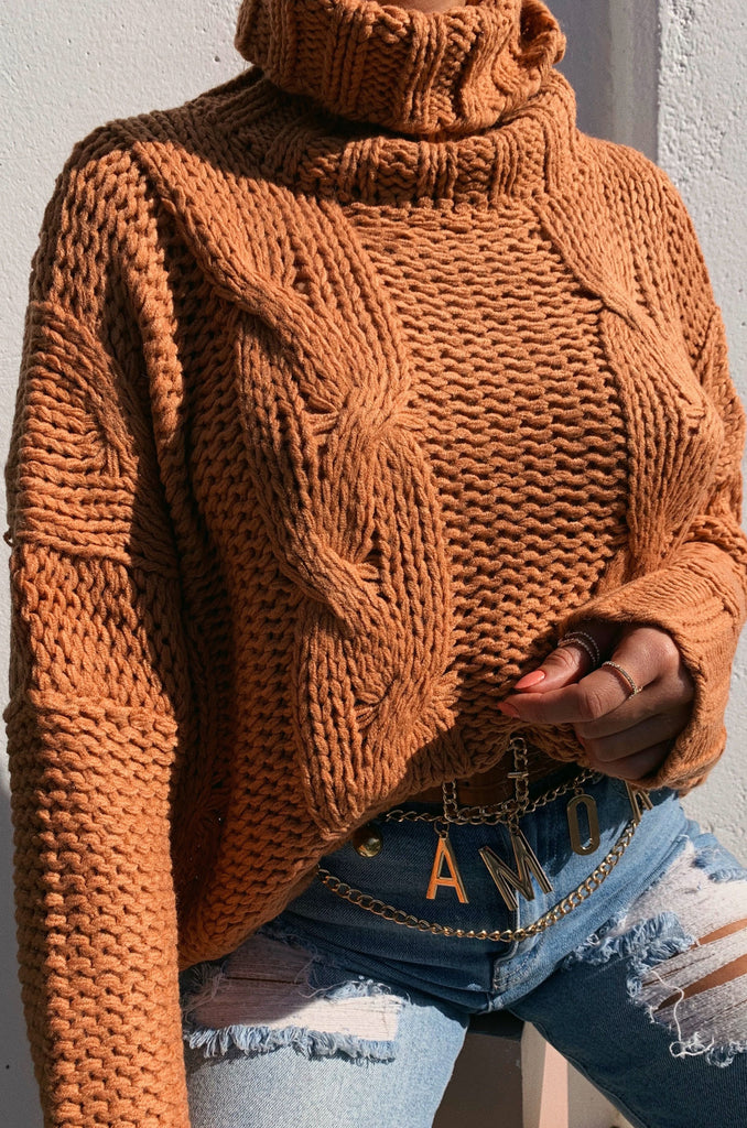 Let's Cuddle Knitted Sweater - Honey