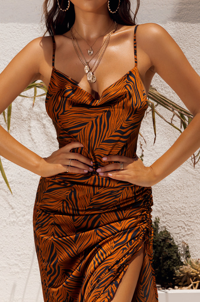 Fly To Cancun Dress - Tiger