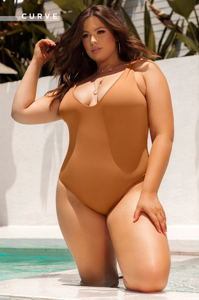 Sea Vixen Swimsuit - Tan