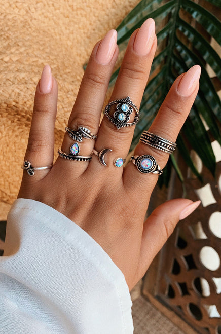 Cosmic Magic Ring Set - Silver