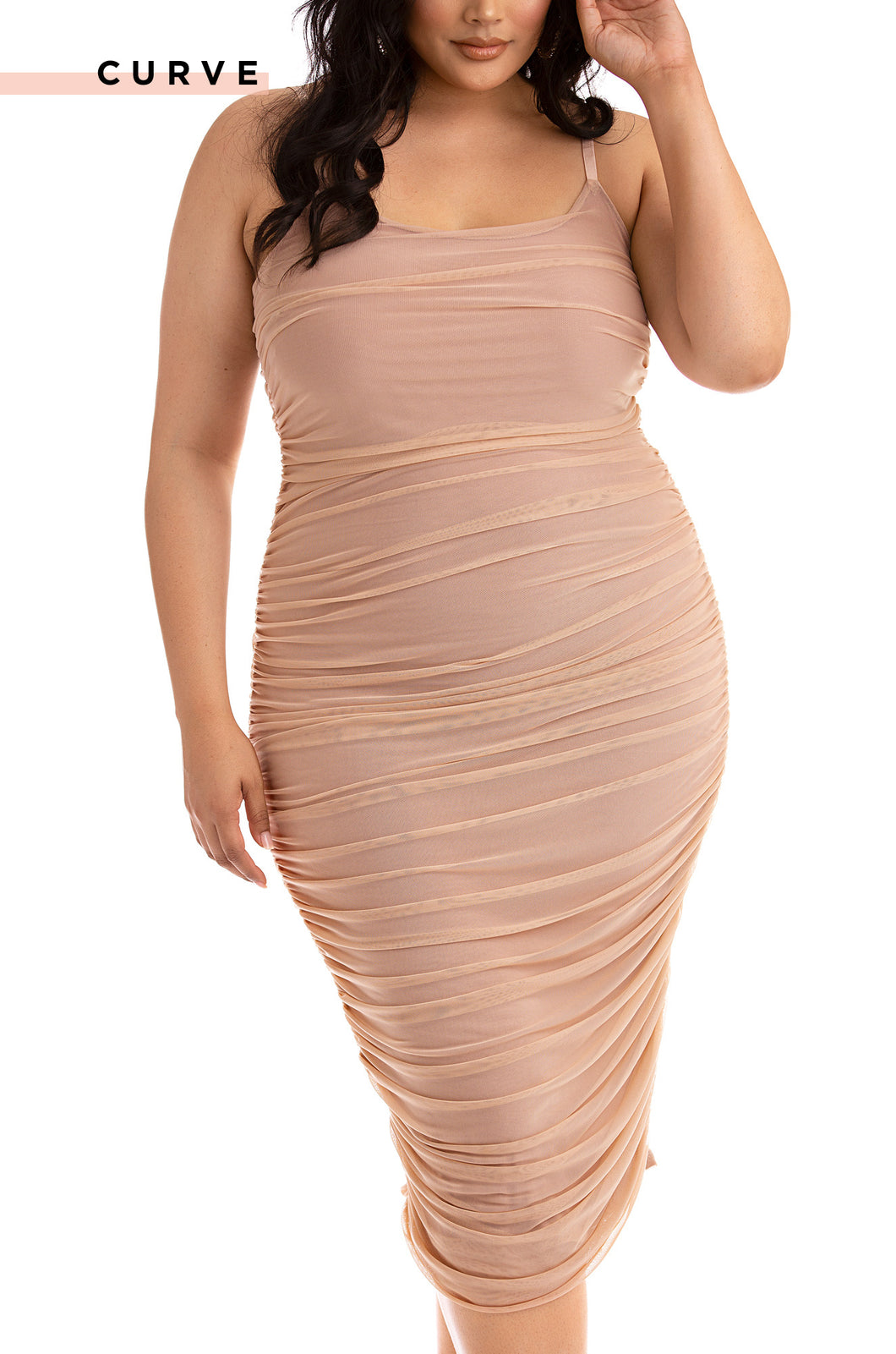 Model Behavior Dress - Nude