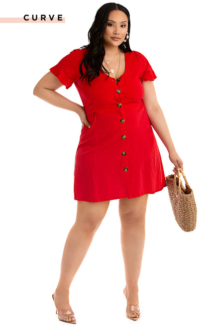 Keep Your Cool Dress - Red