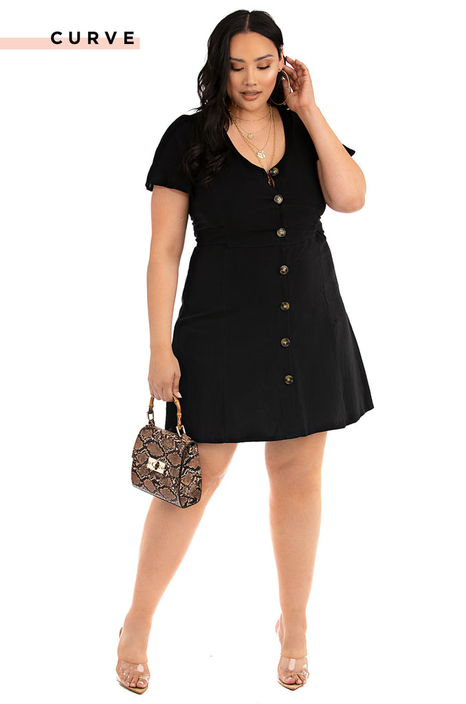 Keep Your Cool Dress - Black