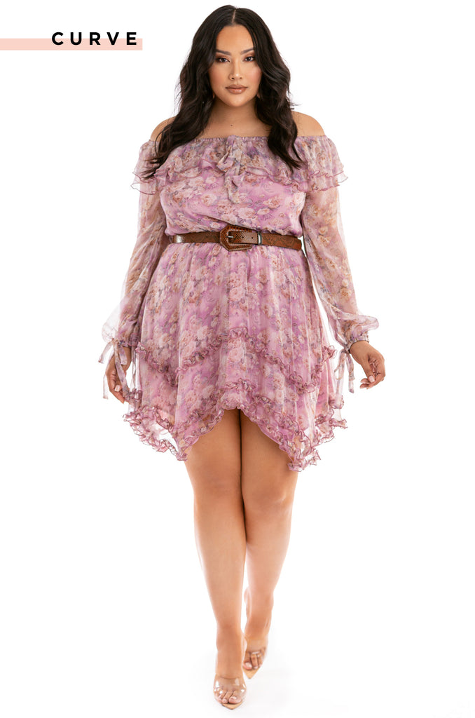 Lotus Flower Bomb Dress - Floral