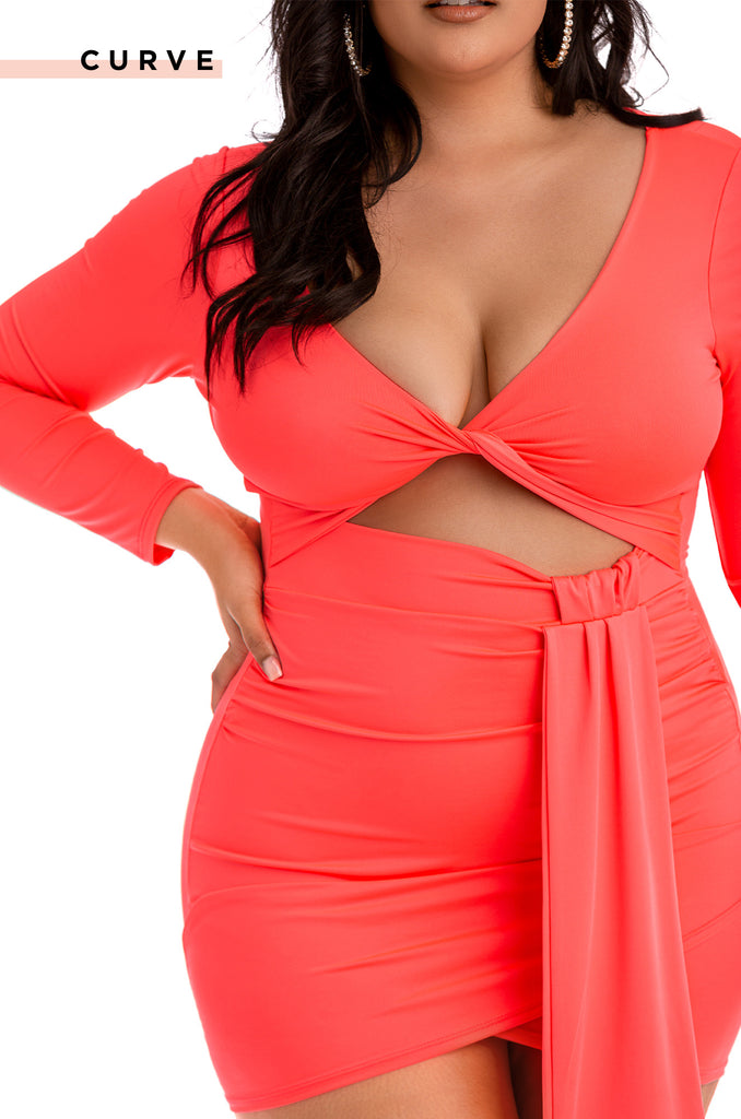 Bad At Love Dress - Coral