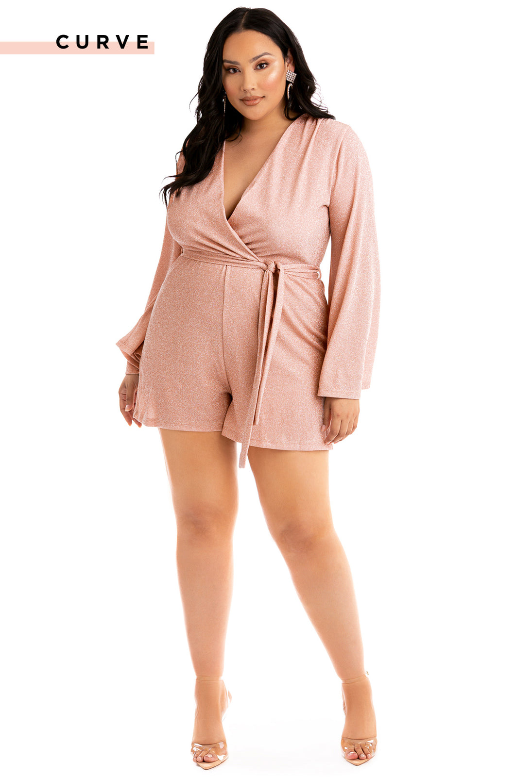 Showstopper Romper - Blush
