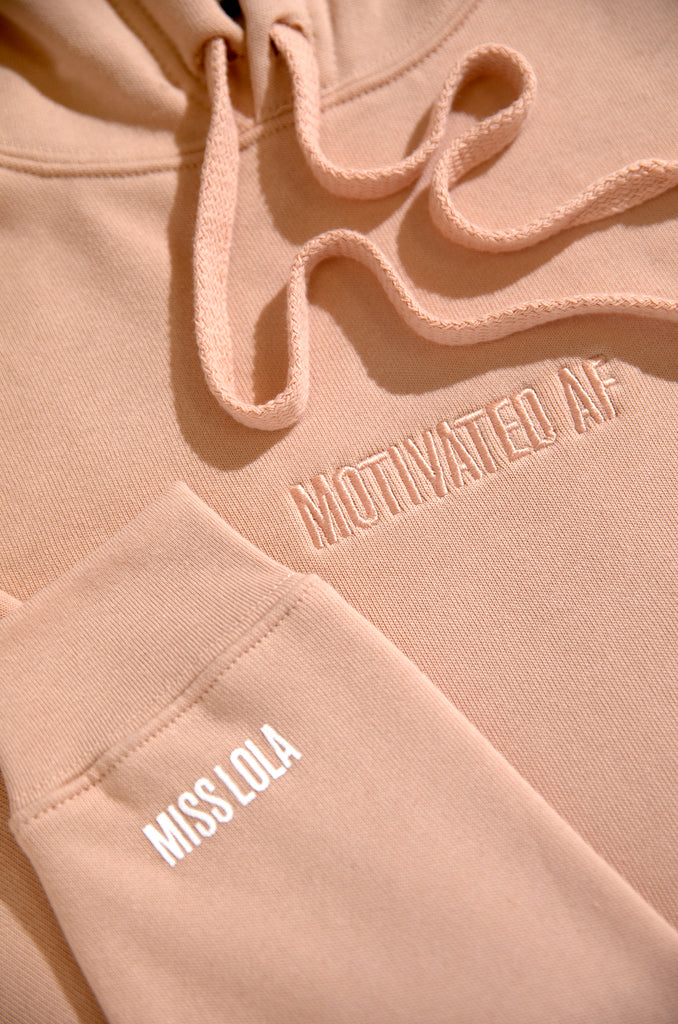 Motivated AF Cropped Hoodie - Blush