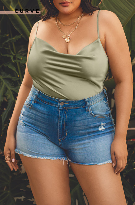 Sweetest Kiss Top - Olive