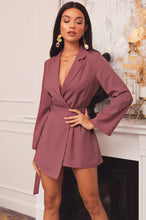 Business Affairs Romper - Mauve