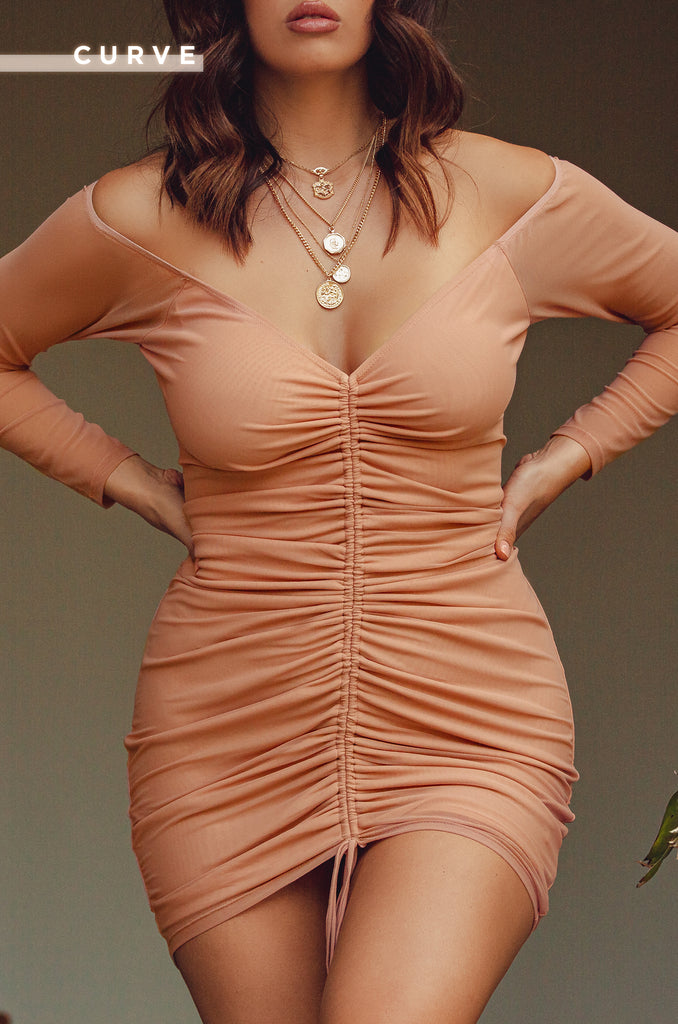 Once In A Lifetime Dress - Nude 13