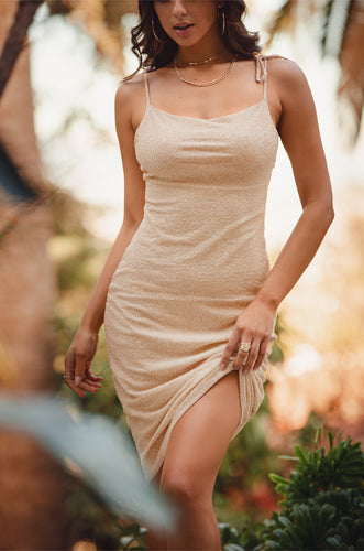 Dangerously Seductive Dress - Nude