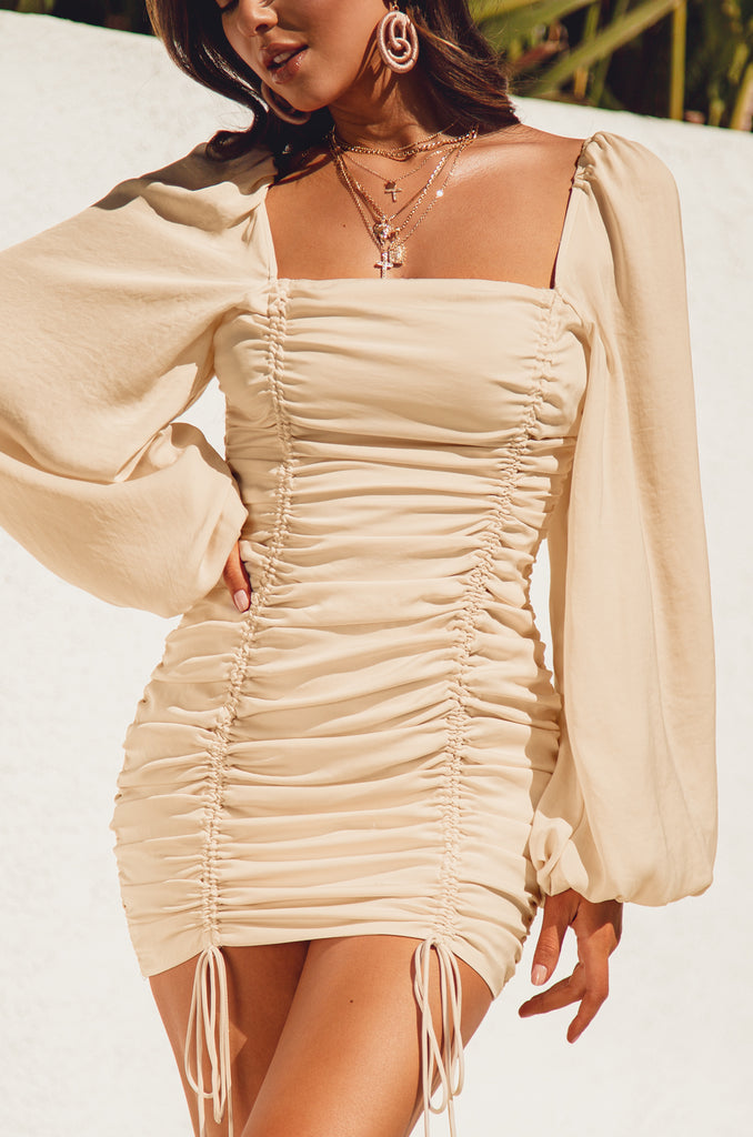 Lost In Cabo Dress - Nude