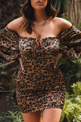 Romance Language Dress - Leopard