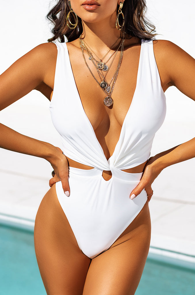 Slaycation Swimsuit - White 7