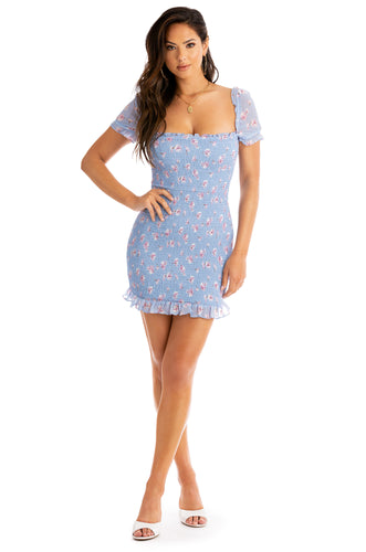 Sun Lover Dress - Blue Floral