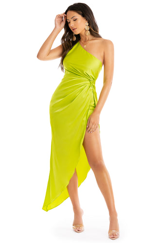 Haute Night Out Dress - Neon Lime