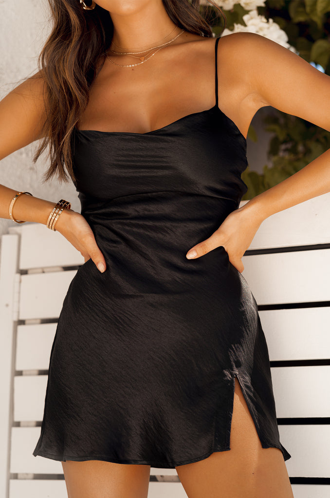Heart of Gold Dress - Black