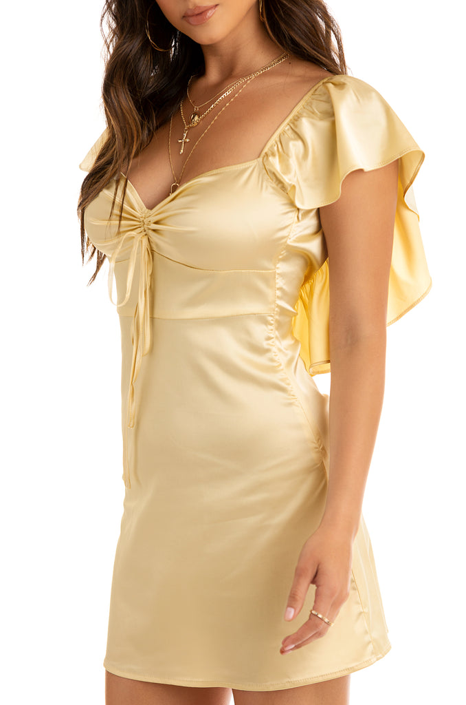 Lost In Love Dress - Gold