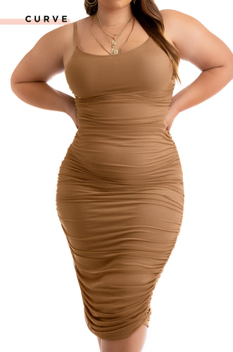 Model Behavior Dress - Camel