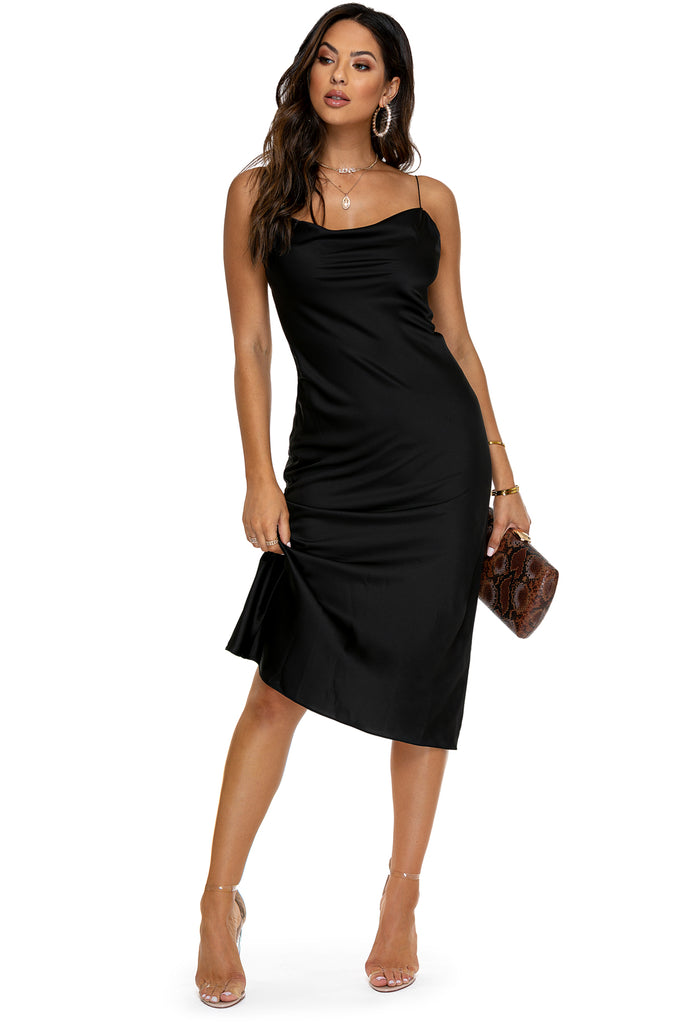 Sleek Seduction Dress - Black