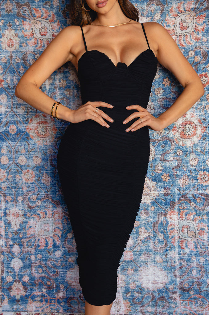 Night Vixen Dress - Black