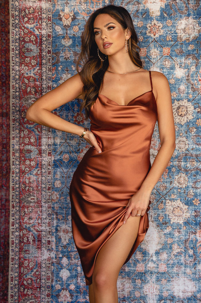 Heart Of Mine Dress - Rust