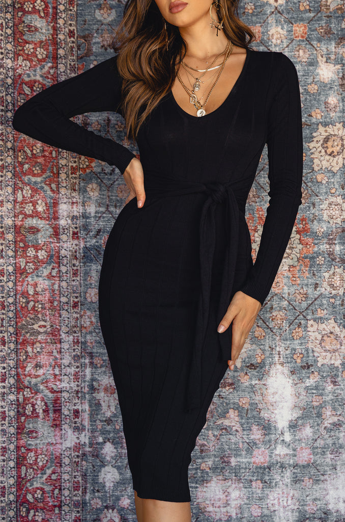 Out For The Night Dress - Black