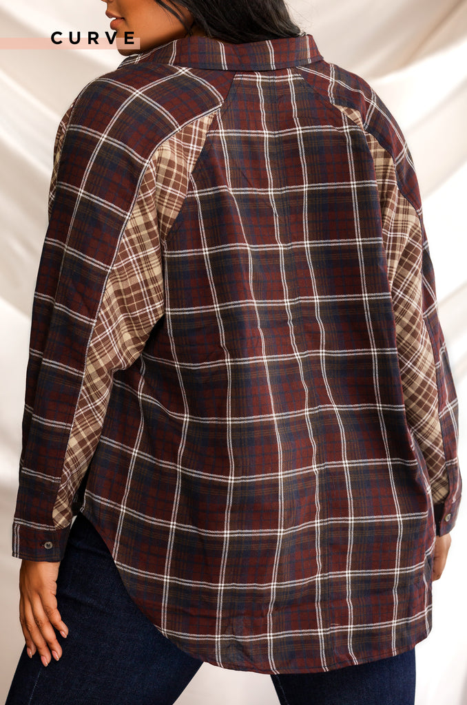 Fly Me To New York Top - Plaid