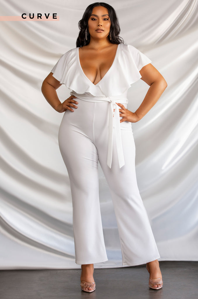 Meet For Drinks Jumpsuit - White