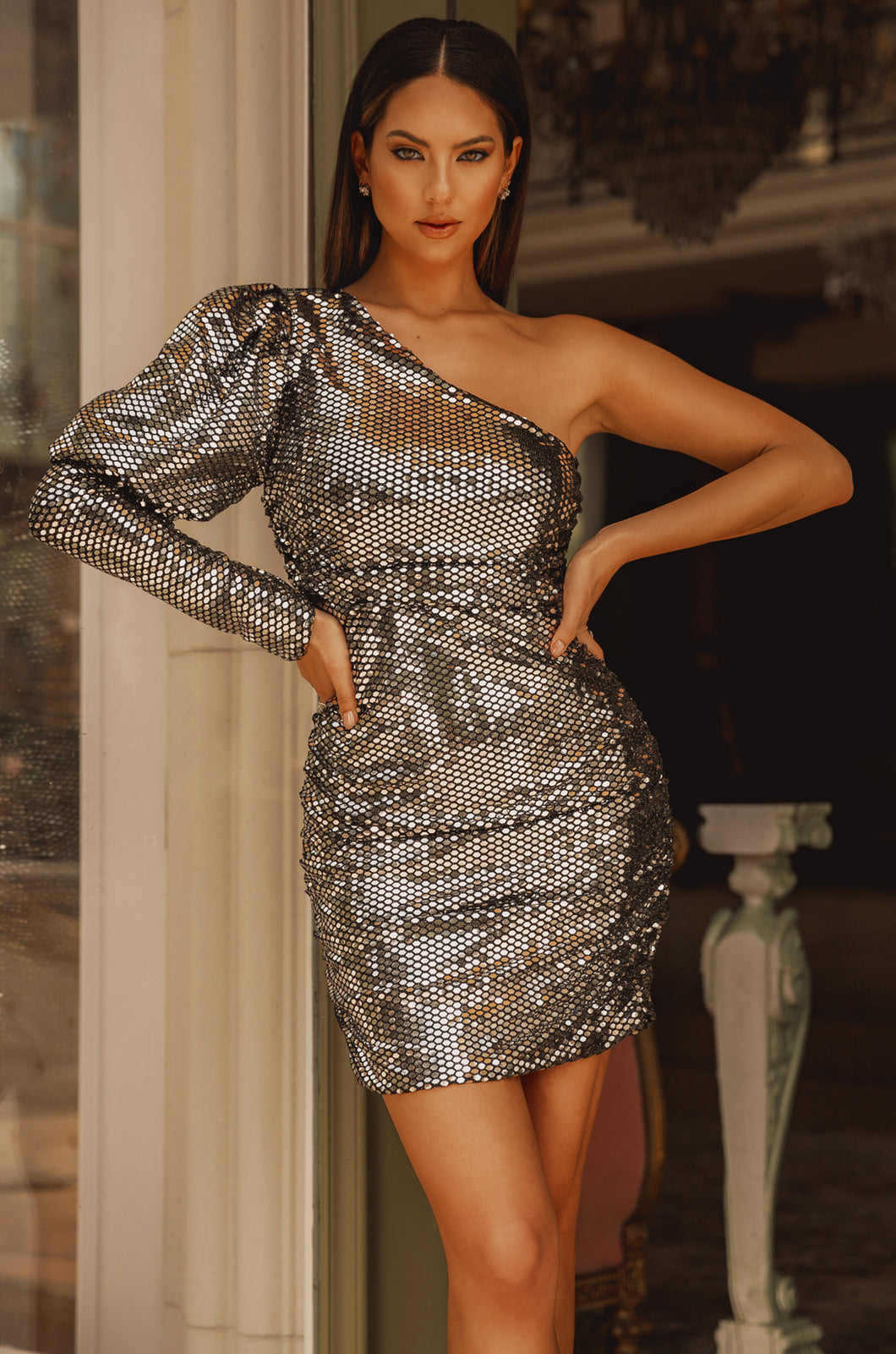 All Luxe Dress - Silver