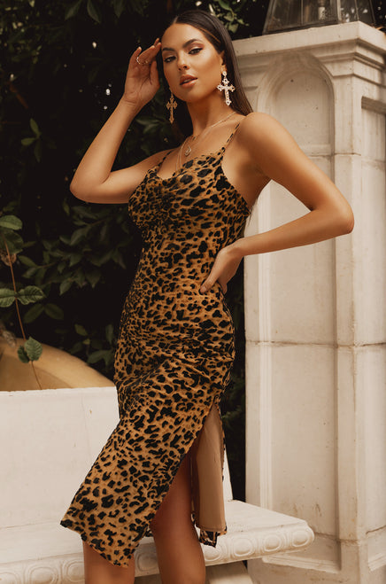Make The Move Dress - Leopard