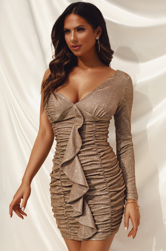 Champagne Dreams Dress - Gold